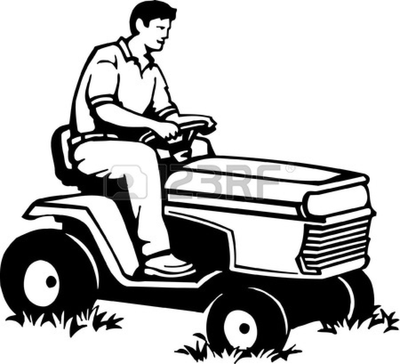 Lawn Mower Clipart Black And White | Clipart Panda - Free ...