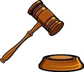 This hammer and gavel represents the court system in which civil liabilities case are involved.