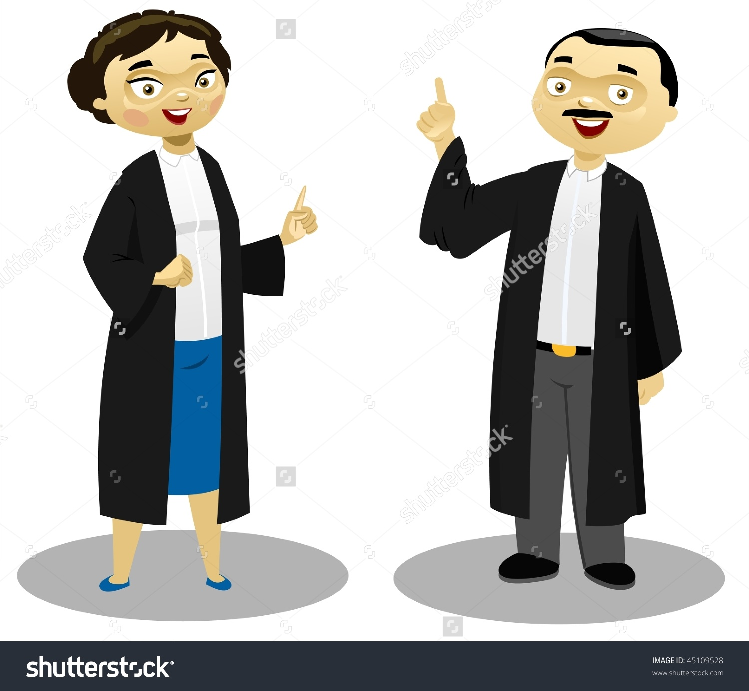 how to draw a female lawyer