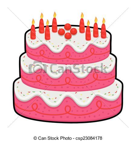 Three Layer Birthday Cake Clipart Panda - Free Clipart ...