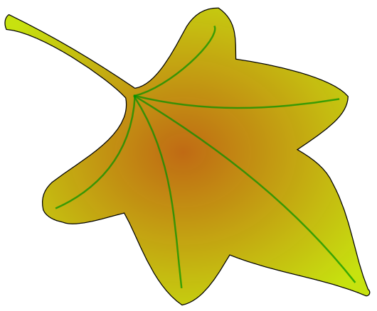 pumpkin vine leaf pattern