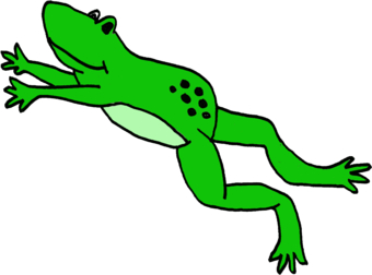 Frog Jumping Clipart Leaping Frog   Clipart...