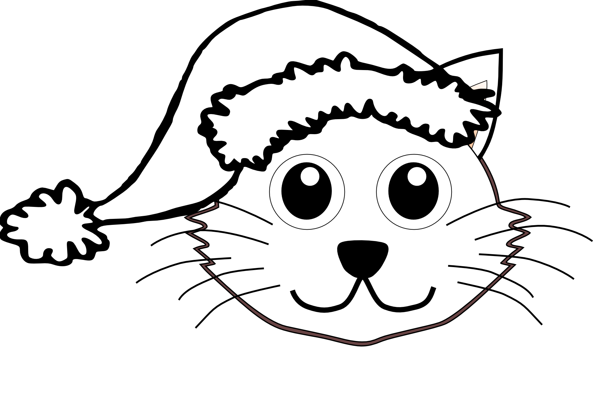 Free Black And White Clipart Cat
