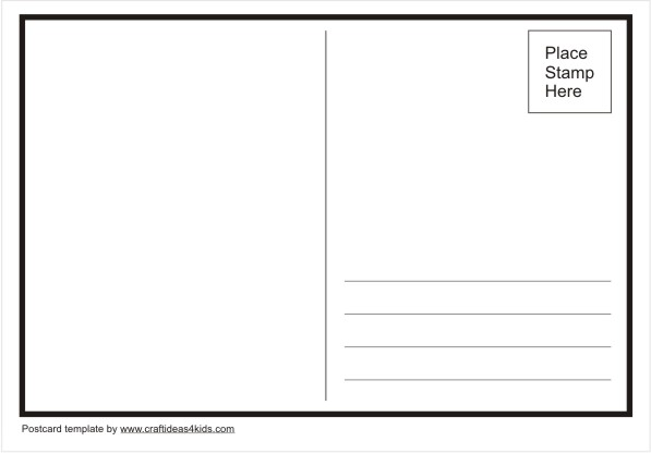 Postcard Template  Item   Clipart Panda  Free Clipart Images