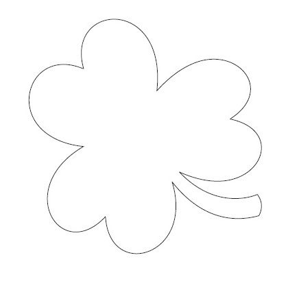 It is a photo of Nerdy Printable Shamrock Templates