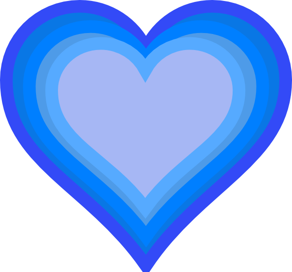 Two hearts clipart blue panda free images
