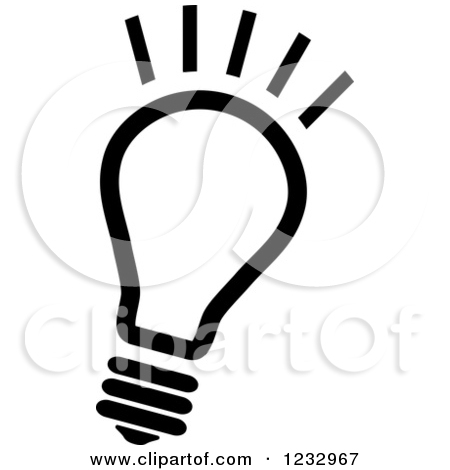 Light Bulb Clip Art Black And White