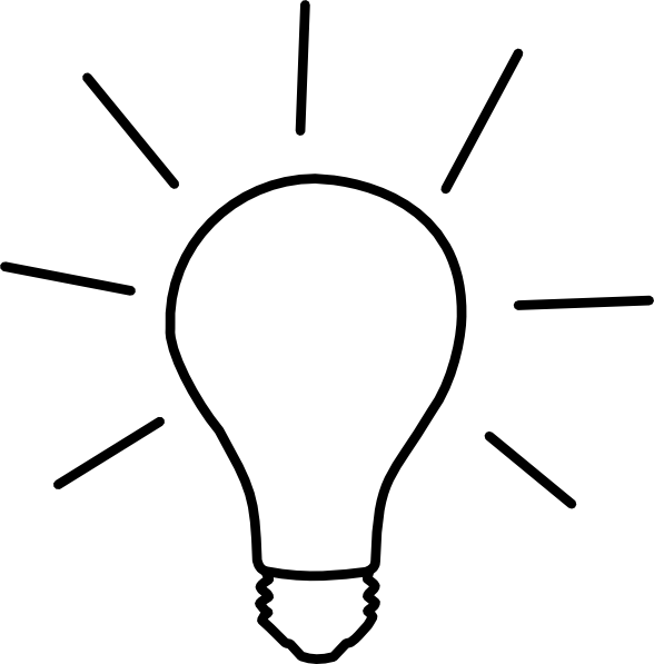 Idea Light Bulb Clip Art Black And White | Clipart Panda ...