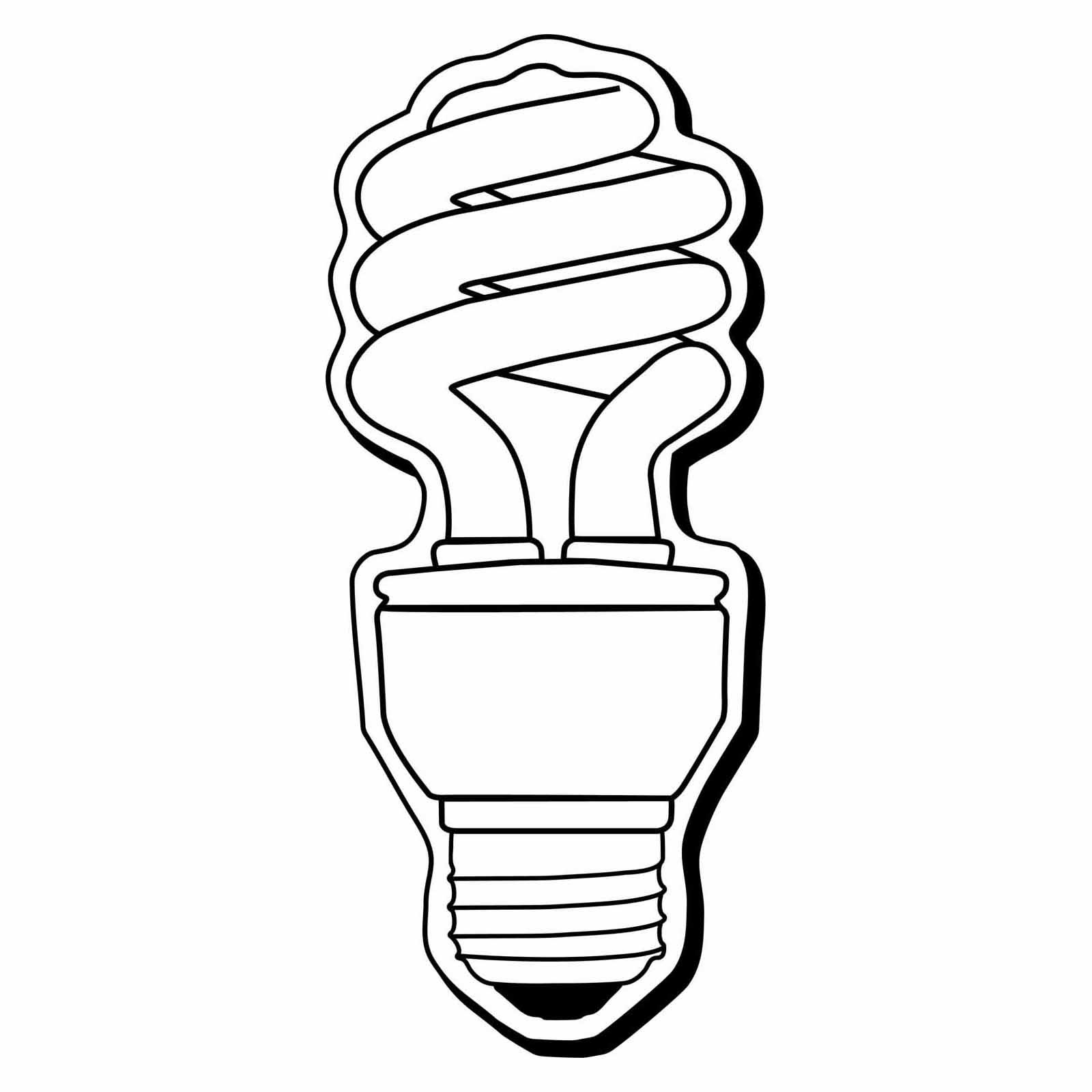 Line Art Light Bulb : Lightbulb drawing clipart panda free images