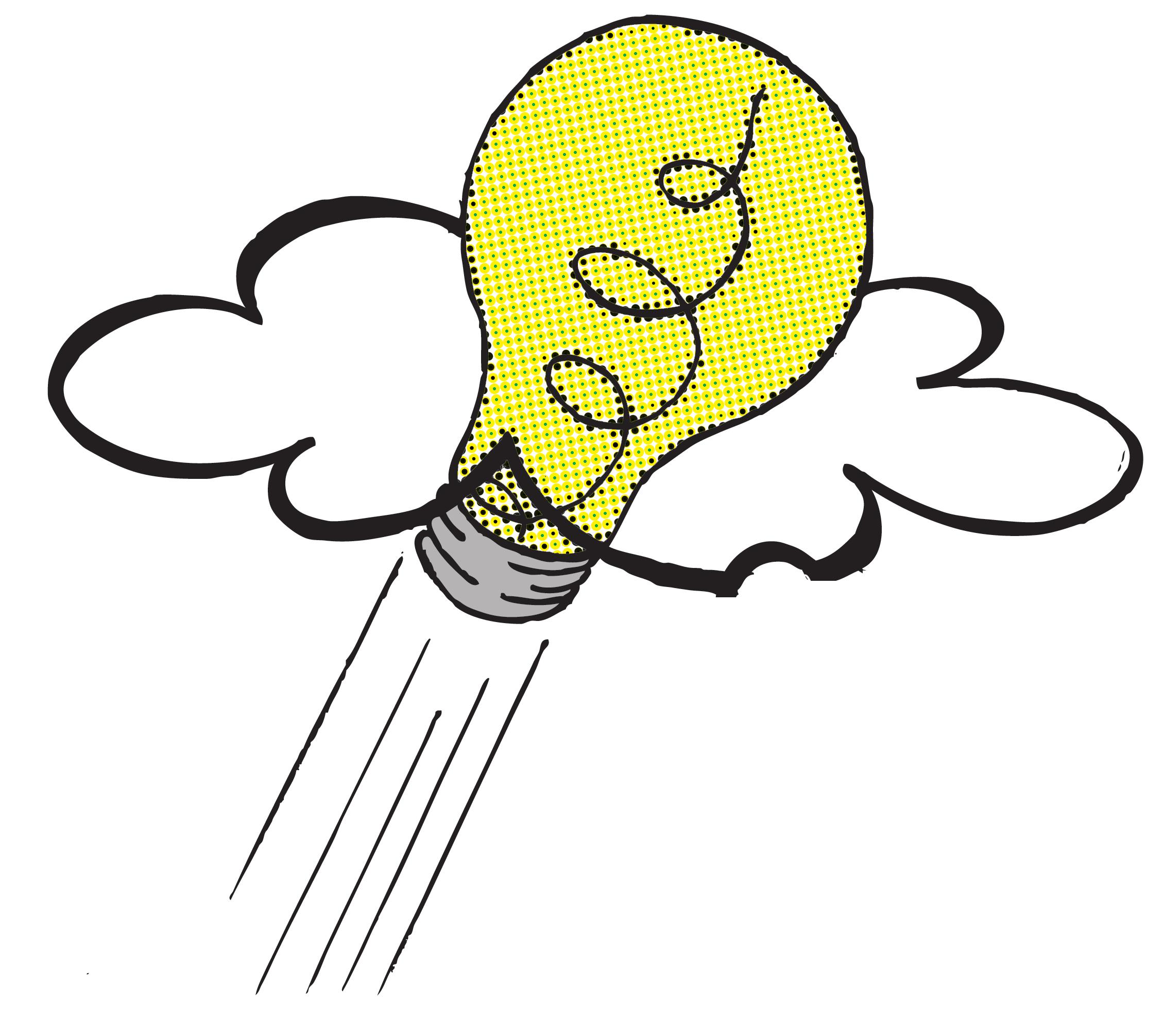 Lightbulb Idea Over Head
