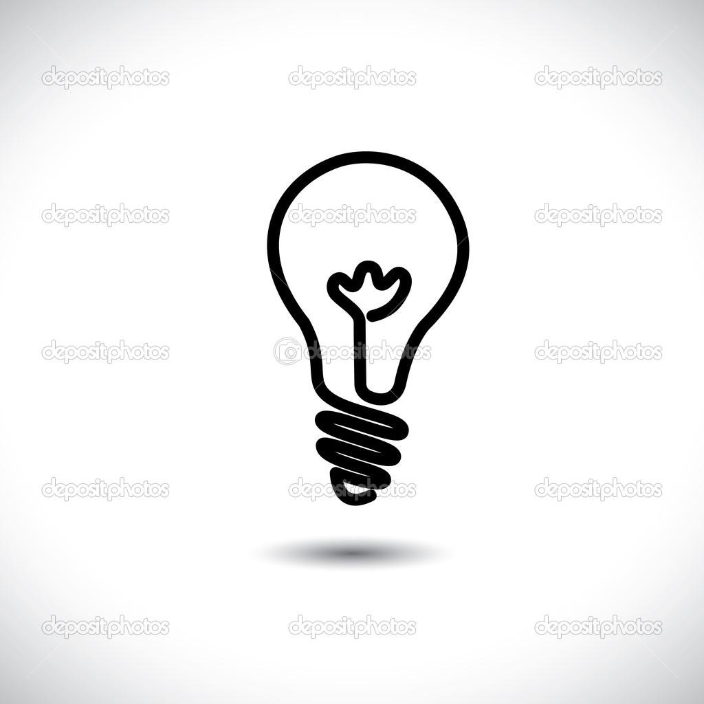 Line Art Light Bulb : Light bulb idea icon clipart panda free images