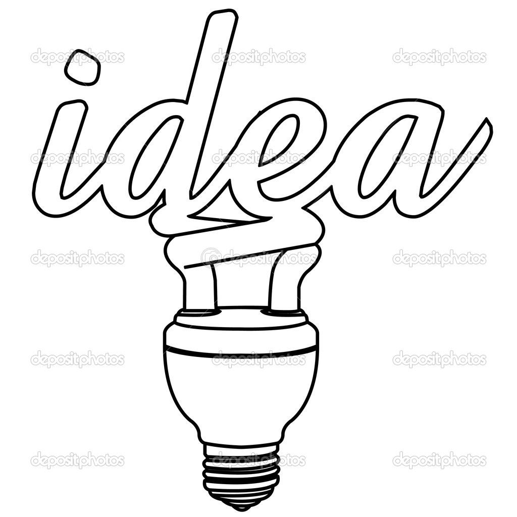Line Art Light Bulb : Lightbulb outline clipart panda free images