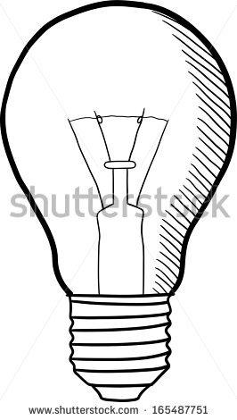 light bulb outline sketch clipart panda free clipart images clipart panda
