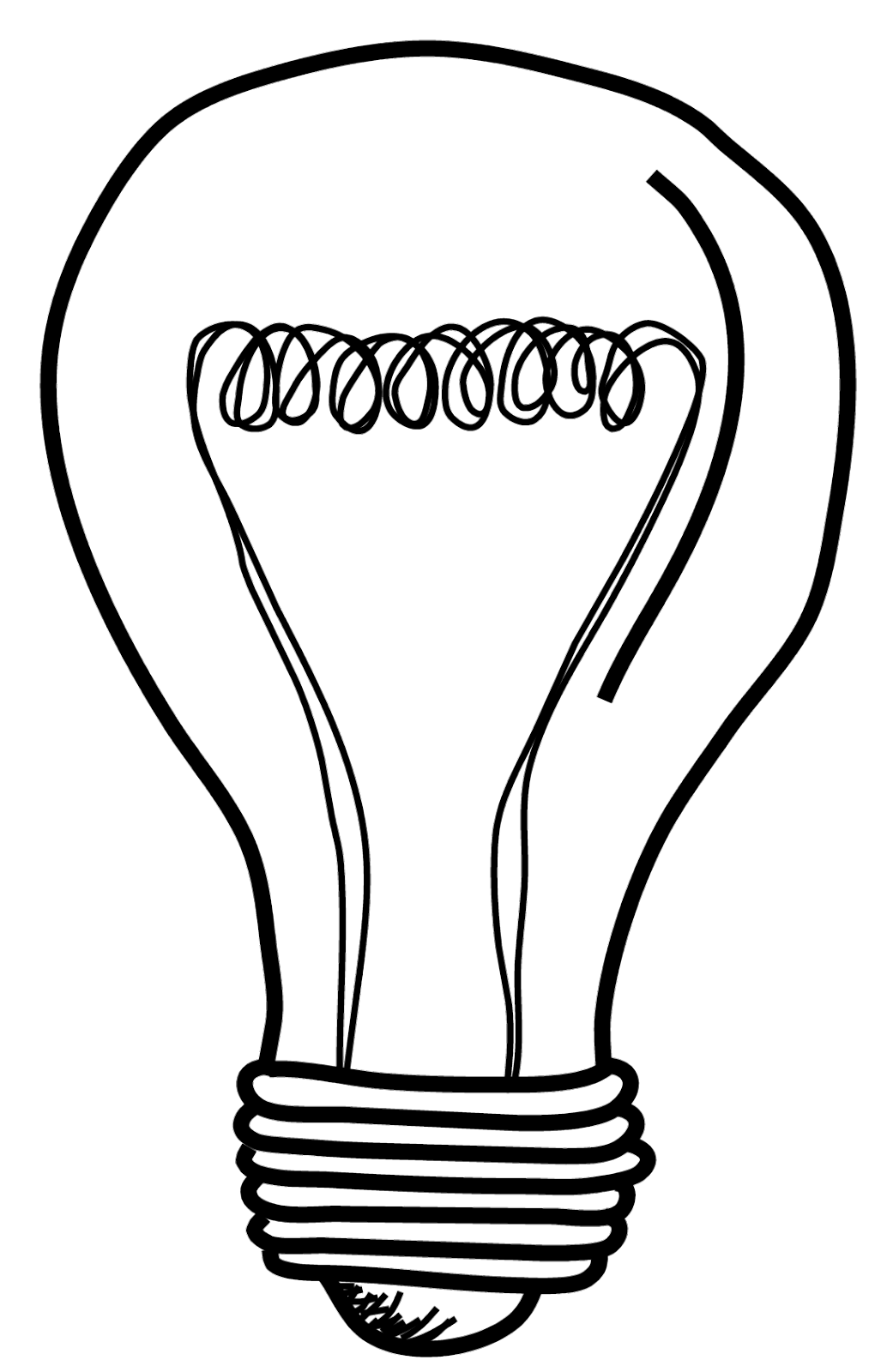 Line Drawing Light Bulb : Light bulb png clipart panda free images