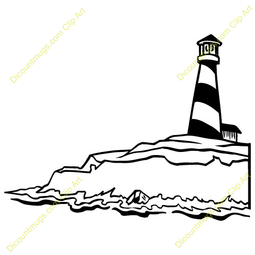 Lighthouse Clip Art Black And White Free