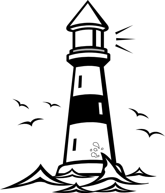 Lighthouse Clip Art Black And White Free | Clipart Panda ...