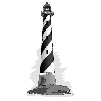 CLIPART LIGHTHOUSE BLACK | Clipart Panda - Free Clipart Images