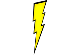 Yellow Lightning Bolt Png