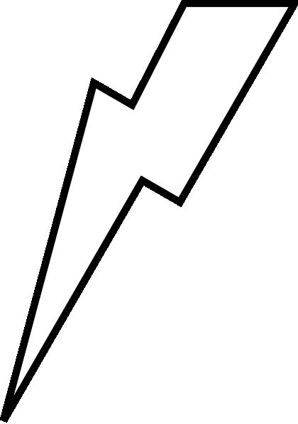 Harry Potter Lightning Bolt Outline | Clipart Panda - Free Clipart ...