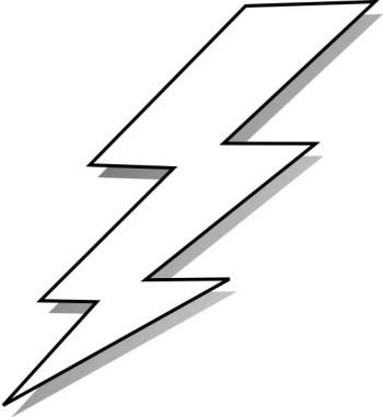 Clip art lightning bolt lightning bolt clipart