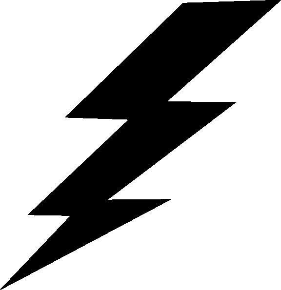 Black Lightning Bolt clip art | Clipart Panda - Free Clipart Images