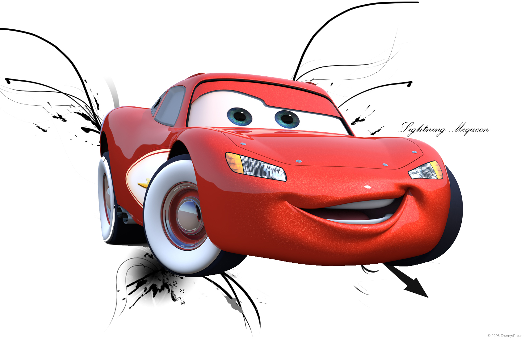 Lightning Mcqueen Cars  Colouring Pages