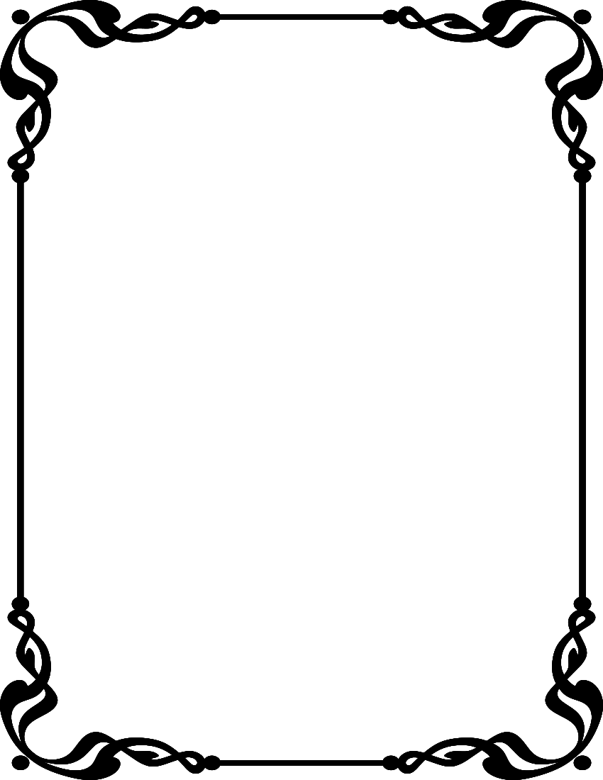 Line Art Borders : Simple line border clipart panda free