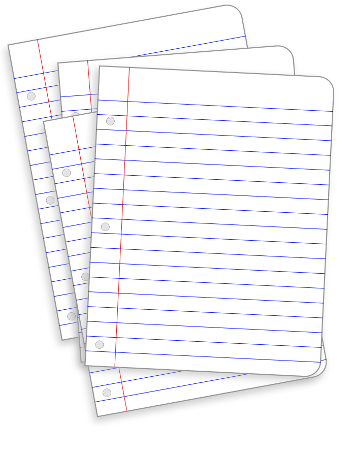 Cartoon Lined Paper Lined paper icon clipart