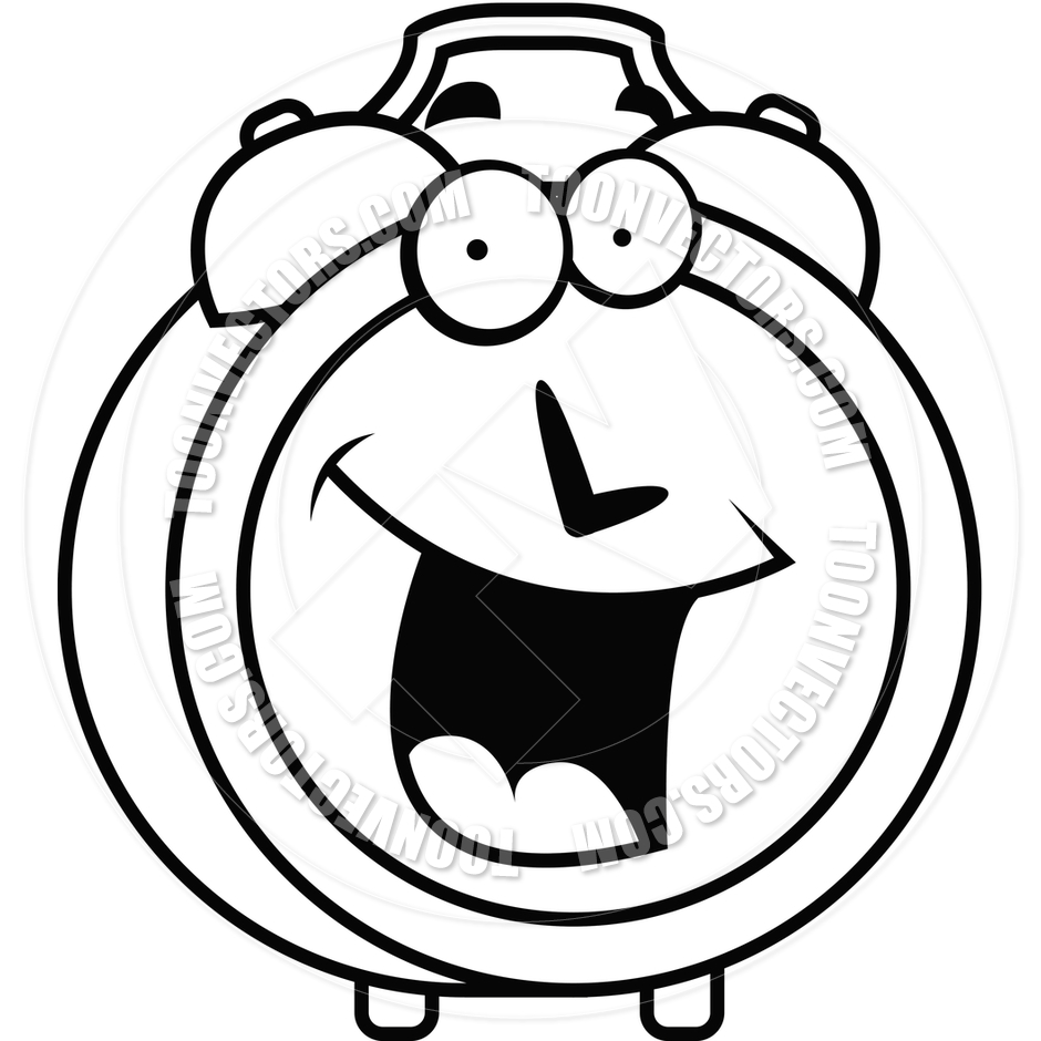 clock clipart black and white free - photo #11