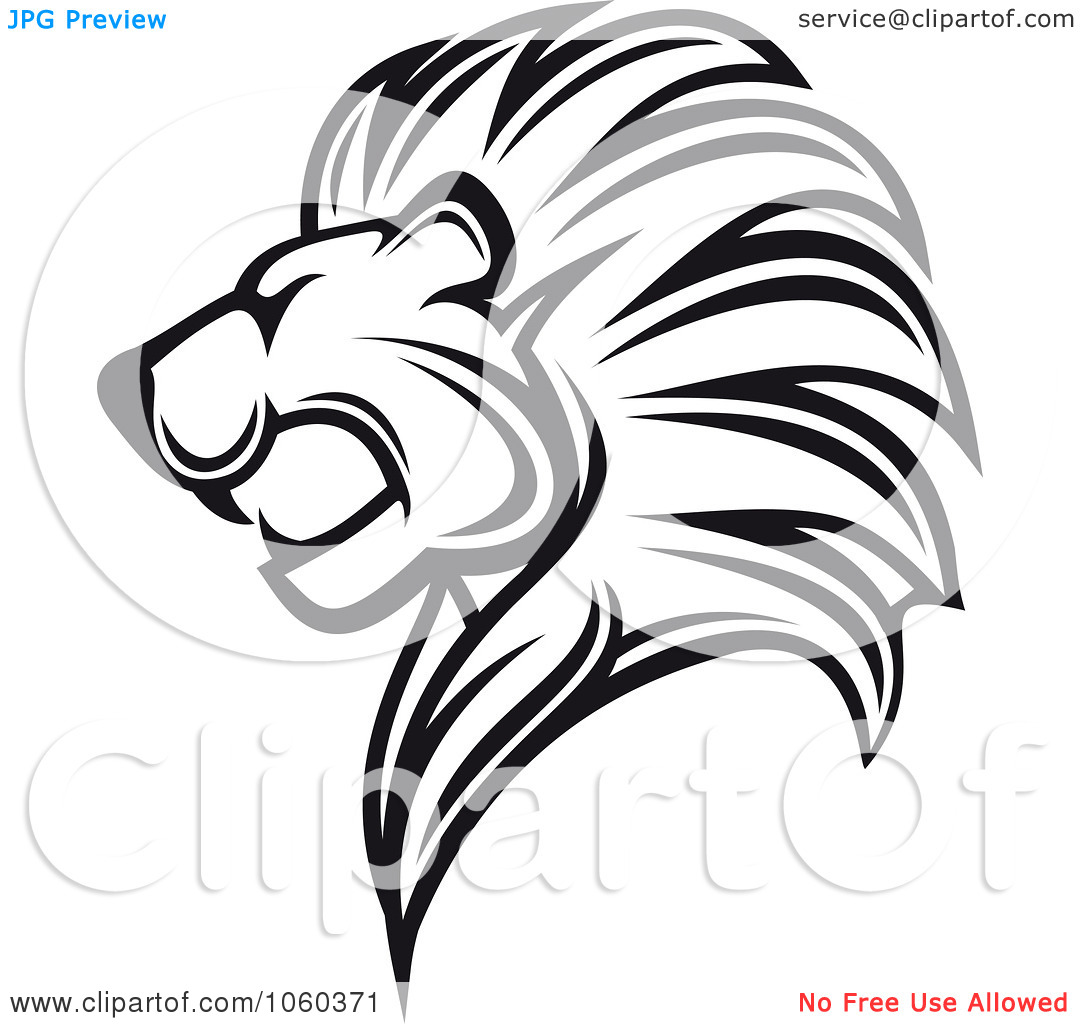 Lion Clip Art Black And White