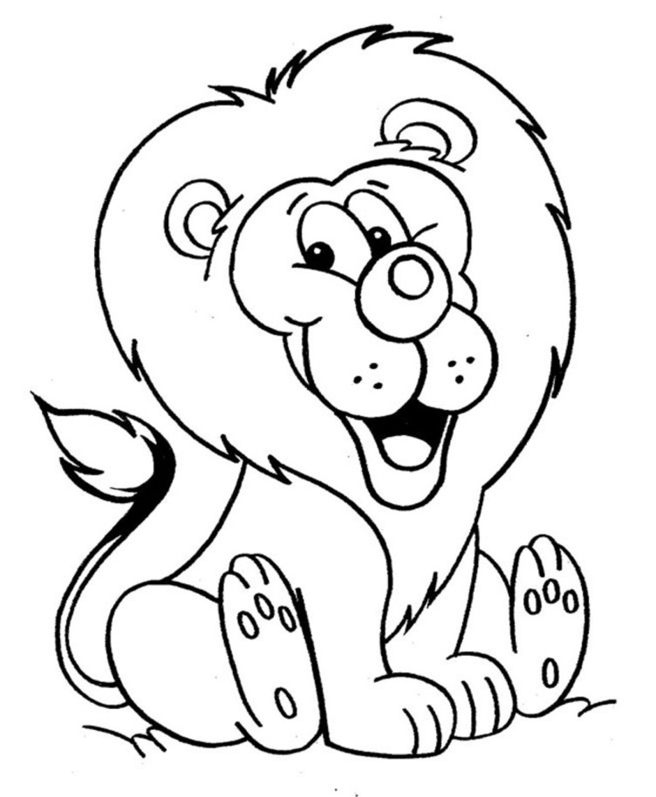 Lion coloring pages kids coloring pages lion jpg