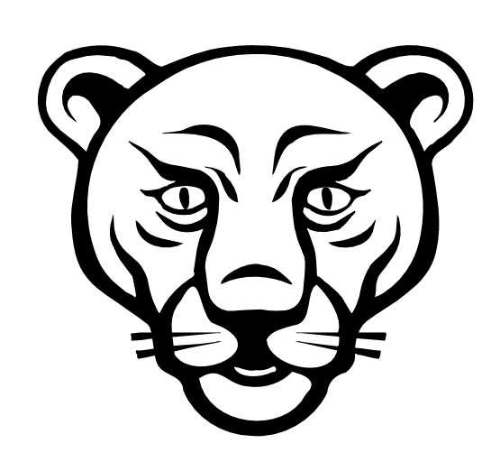 Cougar Face Line Drawing : Lion clipart black and white panda free