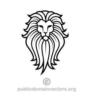 Simple lion head clipart - photo#39