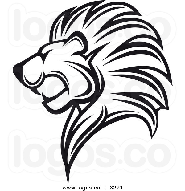 Lion head clipart lion head clipart black and white royalty free