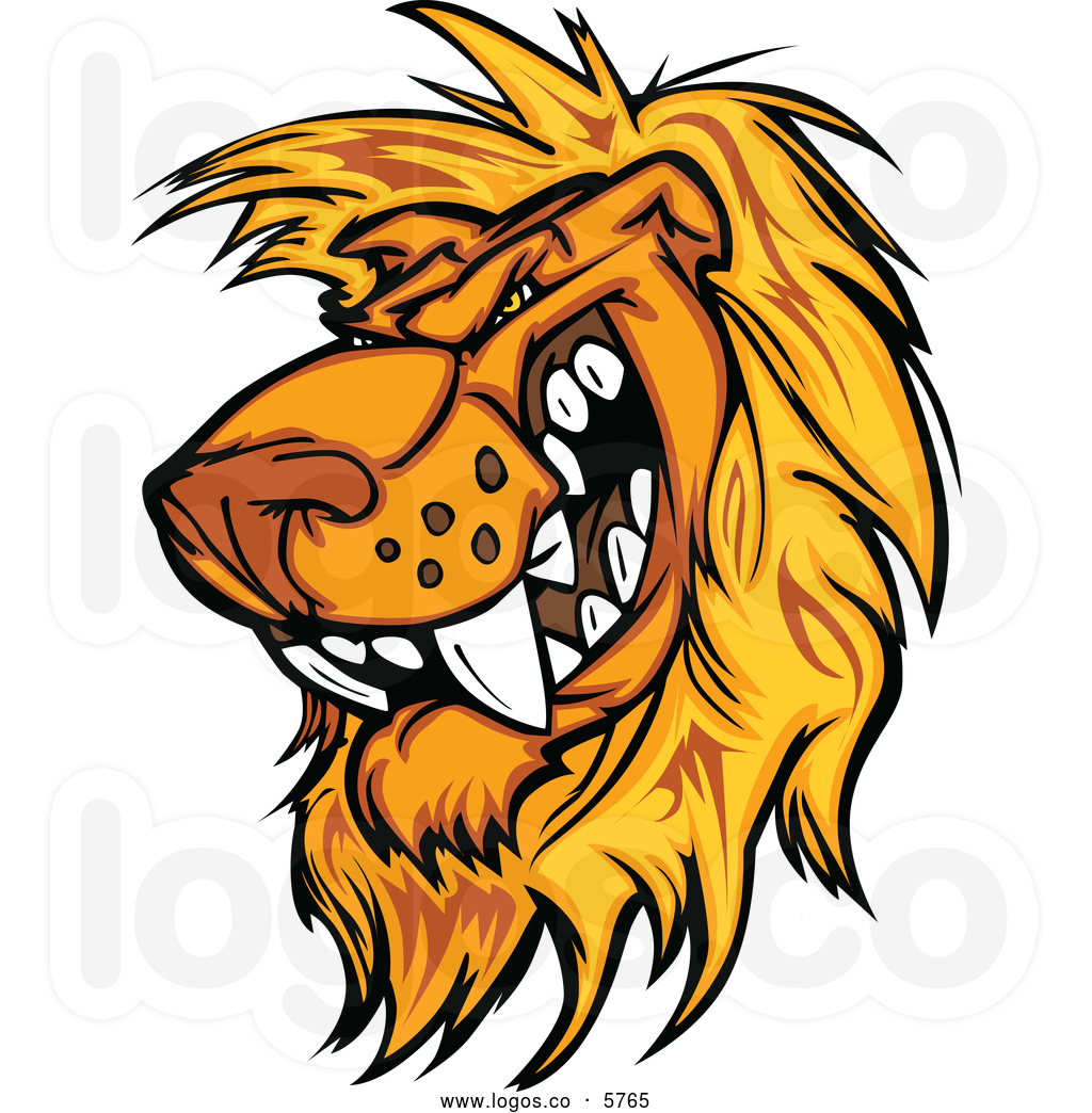 roaring lion head logo
