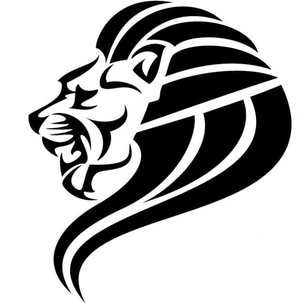 Lion head silhouette clip art black lion head vector image91