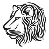 Roaring Lion Profile Tattoo Lion Profile Ta...