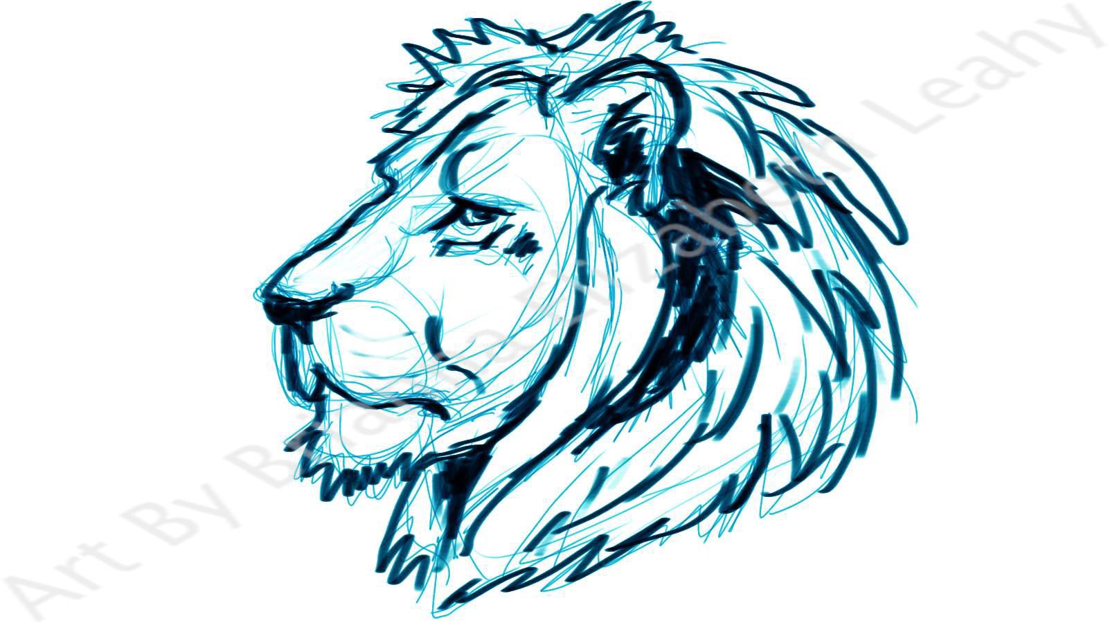 lion roaring profile clipart panda free clipart images