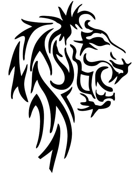 Roaring Lion Profile Tattoo Lion Roaring Pr...
