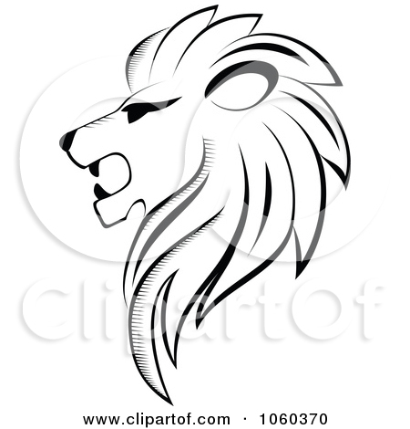 Black and white lion clip art - photo#16