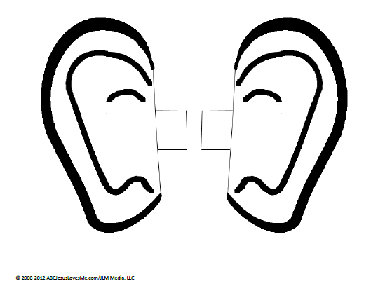 Human ears clipart black and white - photo#48