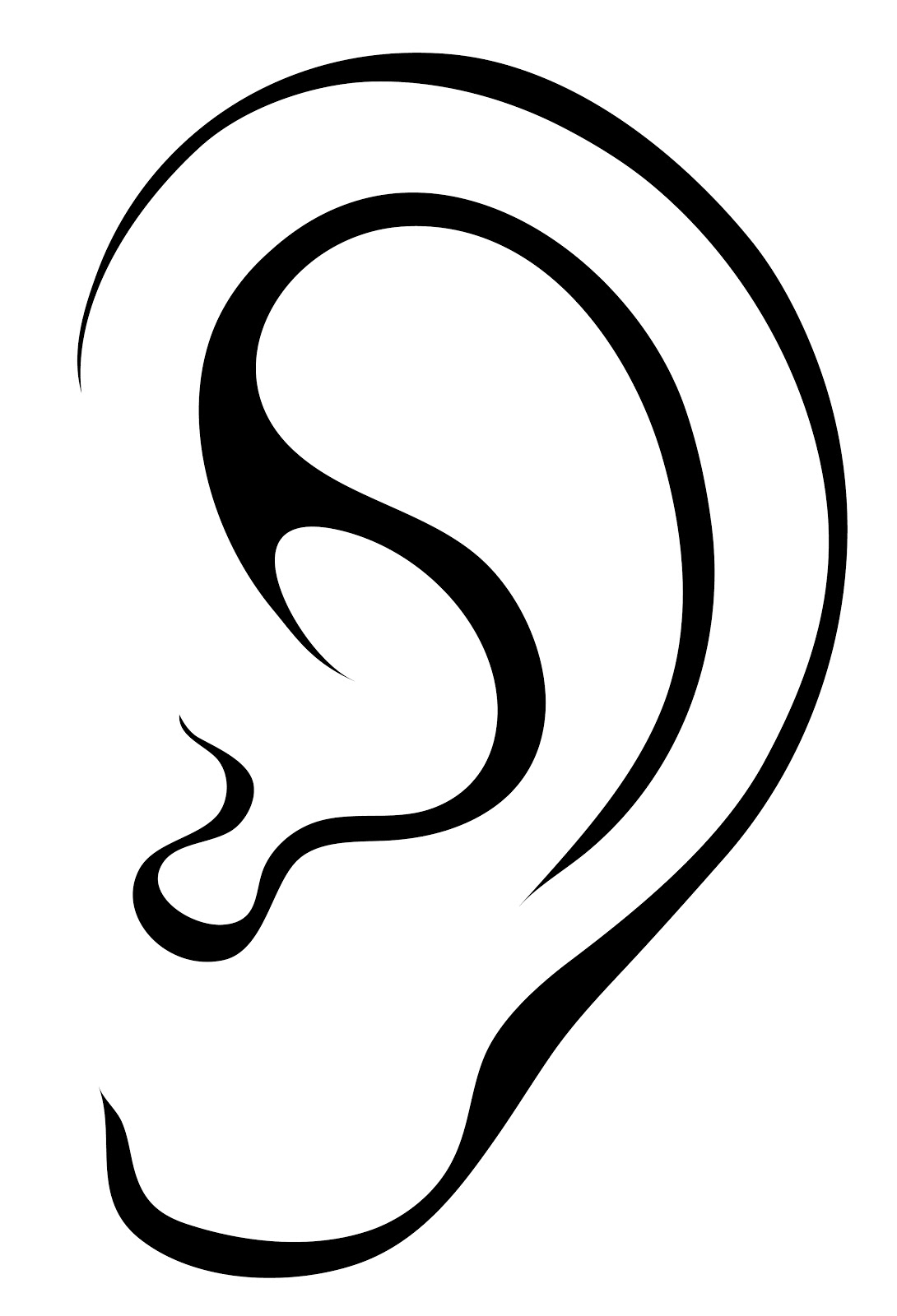 Listening ear images clipart panda free clipart images for Ear coloring pages
