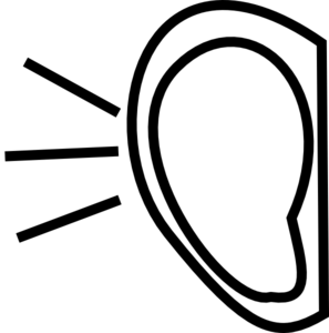Clip Art Clipart Ear listening ear clipart panda free images