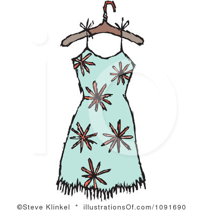 Dress On Hanger Clipart Black And White | Clipart Panda ...