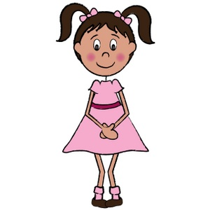 little-girl-thinking-clipart-cute shy little girl wearing a pink dress    Sad Little Girl Clipart