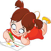 Little Girl Writing Clipart | Clipart Panda - Free Clipart Images