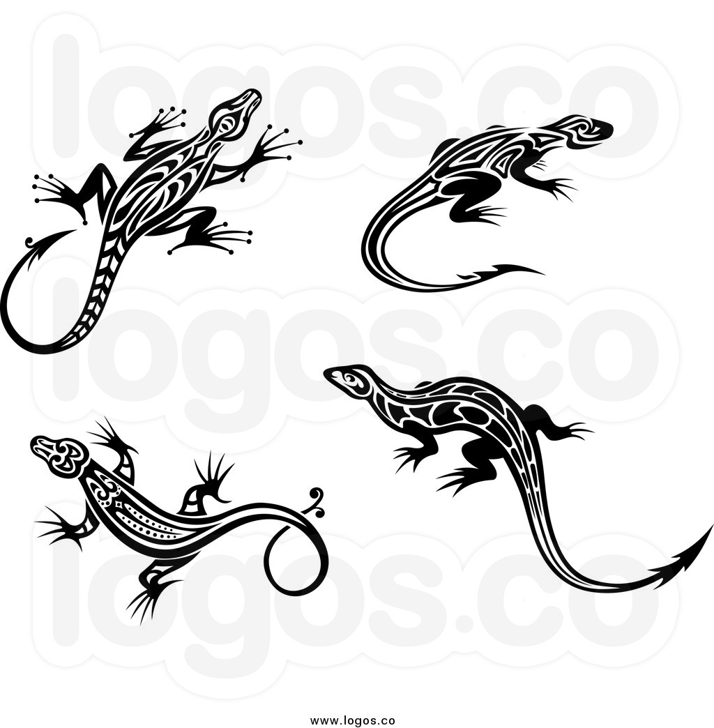 lizard clipart black and white clipart panda free clipart images