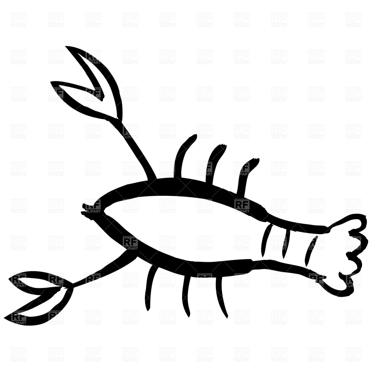 Lobster Clipart Black And White | Clipart Panda - Free Clipart Images