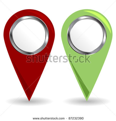 Location icon white stock vector location icons with copy space over