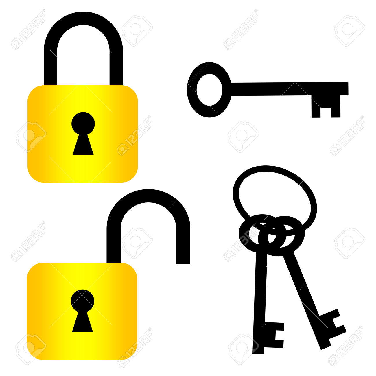 padlock and key clipart - photo #7